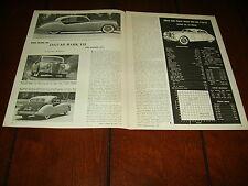1955 JAGUAR MK II SEDAN  ***ORIGINAL VINTAGE ARTICLE / SPECIFICATIONS***