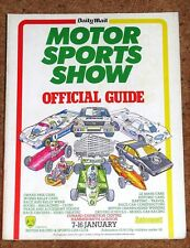1983 MOTOR SPORTS SHOW GUIDE London (BRSCC) inc De Angelis JPS LOTUS 91 POSTER