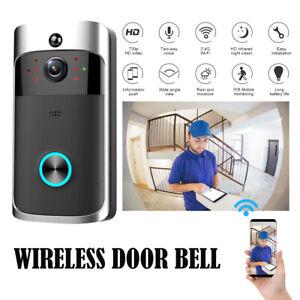 Smart WiFi Doorbell Camera Video Wireless Remote Door Bell CCTV Phone UK