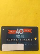 Resorts Premiere Star Casino Slot Card Atlantic City, NJ New Issue 40 Years