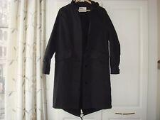 New Margaret Howell MHL Women's Navy Parka Coat Jacket Proofed Cotton Drill S