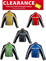 RKsports 5060TEXTILE MOTORBIKE MOTORCYCLE JACKET RED BLUE YELLOW GREEN BLACK CE