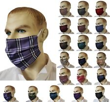 Adult Double Layer Washable face Mask Covering 100% Silk with Cotton Lining