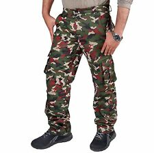 ARD Fashion Casual Mens Military Army Cargo Combat Work Trousers Pants 8 Pockets