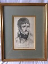 Engraving of young Napoleon etched by J Chapman from original drawing by M Barre