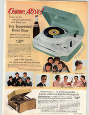 1965 PAPER AD Transistor Record Player The Beatles Gene Pitney The Four Seasons