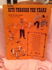 Music Song Book HARMS HITS THROUGH THE YEARS Words Music Chords Complete