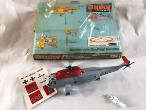 WORKING DINKY TOYS BUNDESMARINE WESTLAND SIKORSKY SEA KING SAR RESCUE HELICOPTER