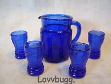 """Blue Princess 5pc Water Set Glasses for American Girl 18"""" Doll Accessory LOVV IT"""