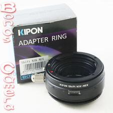 Kipon Shift Nikon F mount AI Lens to Sony E mount NEX Adapter NEX-5 3 7 A6000