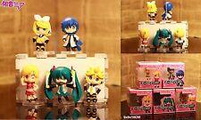 Miku Hatsune Kagamine Rin Len Kaito (Vocaloid) Anime Figuren 5er Set H:6-7cm