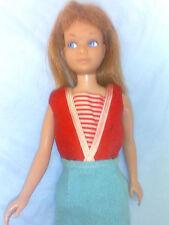 SKIPPER #5 1963 IN RED& WHITE STRIPES SWIM SUIT& SKIRT MED.  HAIR, wth  BANGS,