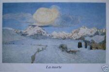 Segantini : La Morte - Der Tod - Kunstdruck 65 x 96cm
