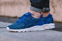 MENS ASICS GEL KAYANO EVO H621N BLUE WHITE SOLE TRAINERS SIZE UK 9.5 EUR 44.5