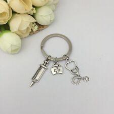 Nurse Medical Box Medical Key Chain Needle Syringe Stethoscope Keychain