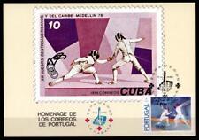 Fechten. Olympische Sommerspiele, Los Angeles. Maximumkarte. Portugal 1984