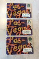 2017 Starbucks Las Vegas Card - Lot of 3