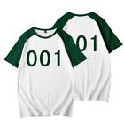 TV Squid Game Printed T-Shirts 456 001 067 Unisex Mens Short Sleeve Tee Tops