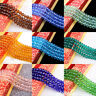 Rondelle Faceted Clear Crystal Glass Loose Charms Spacer Beads DIY 4/6/8/10MM