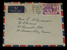Vintage Cover,RANGOON, BURMA, 1962,Buddhist Council Stamp 1954,To Sommerville,MA