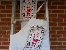 Apron towel set, Cowboy Santa apron & towel gift set, Christmas apron and towel
