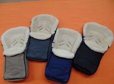 Fußsack für MaxiCosi Recaro Cybex Autositz Babyschalle Lammwolle Merinowolle