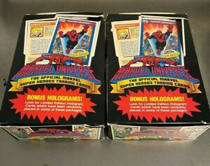 (2) Unopened Boxes 1990 Marvel Universe Series 1 Trading Cards 36 packs each