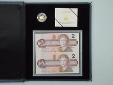 1996 Proof $2 Piedfort Coin and Bank Note Set
