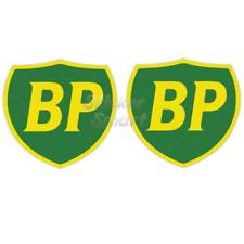 Vintage BP Fuel Motorcycle & Car Racing Vinyl Car Stickers x2