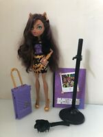 Monster High Doll Clawdeen Wolf Scaris City Of Frights Travel Complete Set - EUC