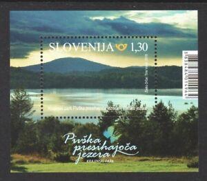 SLOVENIA 2018 NATURE PARKS PIVKA LAKES SOUVENIR SHEET OF 1 STAMP MINT MNH UNUSED