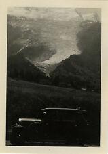 PHOTO ANCIENNE - VINTAGE SNAPSHOT - MONTAGNE MONT BLANC VOITURE AUTOMOBILE 1930