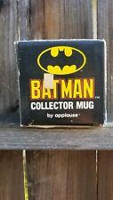 BATMAN Coffee Mug Cup by Applause~ TM & DC Comics~ Black w/ Yellow Image~Vintage