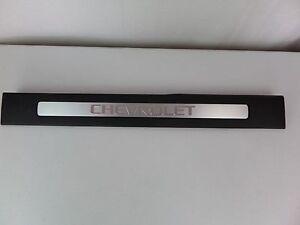 OEM Front RH Right Hand Chevy Door Sill Rocker Plate Trim Molding Black Ebony