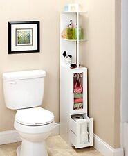 Bathroom Storage Tower Organizer Cabinet Space Saver Slim Narrow Kitchen Caddie