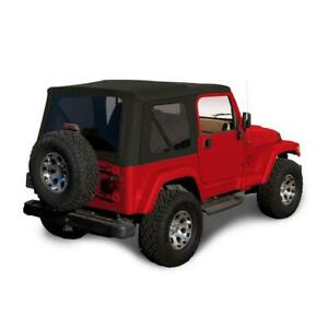 1997-2006 Jeep Wrangler TJ Soft top Replacement & Tinted Windows Black Sailcloth