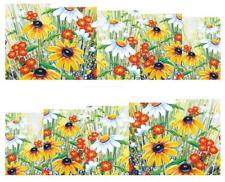 Nail Art Calcomanías Traslados Pegatinas amarillo y rojo Flores HD (DB012)