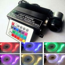 16W RGB LED Fiber Optic Star Ceiling Light Engine Driver +300pcs 2M 0.75m Fiber