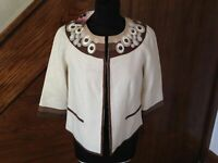 BNWT WOMENS PRINCIPLES SIZE UK 8 BEIGE SMART CASUAL BLAZER SUIT JACKET COAT