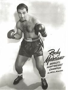 ROCKY MARCIANO 8X10 PHOTO BOXING PICTURE CLOSE UP HEAVYWEIGHT CHAMPION AL WEILL