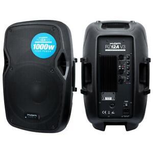 "KAM RZ12A V3 1000 WATT PEAK 12"" ACTIVE SPEAKER WITH STEREO LINE & MIC INPUTS"