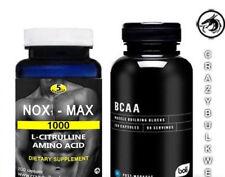 SET-2  NOX1-MAX NITRIC OXIDE EXTREME NO. BOOSTER  1000 Mg  L-CITRULLINE & BCAA