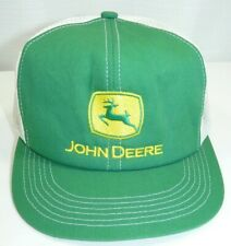 Vintage John Deere Mesh Trucker Hat Snapback Patch K Products Made in USA