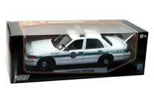 FORD VICTORIA BORDER PATROL CAR DIE CAST 1/18 WHITE BY MOTOR MAX