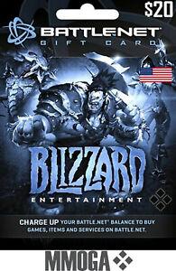 $20 USD Blizzard Battle.net Prepaid Card - PC Digital Code - [US] Ship Now!
