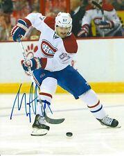 MAX PACIORETTY signed MONTREAL CANADIENS 8X10 PHOTO COA