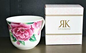 Boxed Roy Kirkham Large Breakfast Cup  'Camellia' Fine Bone China NEW