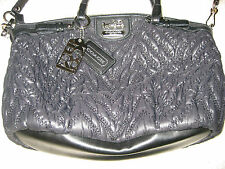 COACH MADISON QUILTED CHEVRON NYLON SOPHIA SATCHEL SHOULDER BAG 18637 70TH ANNIV