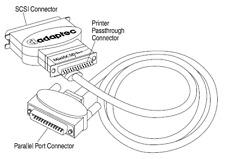 Adaptec MiniSCSI Plus Parallel-to-SCSI Adapter APA-348