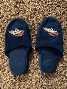 Womens Denver Broncos Rhinestone Slippers barely worn EUC